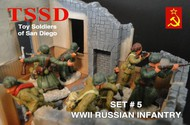 WWII Russian Infantry Figure Playset (16) #TSR5