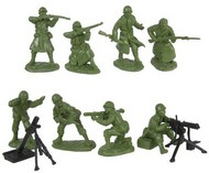 WWII US Infantry Fire Support Figure Playset (16) #TSR9