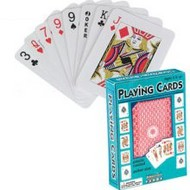 TRADITIONAL GAMES   N/A Playing Cards Plastic Coated TGM4817