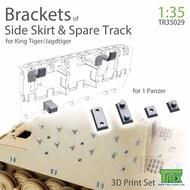 Side Skirt and Spare Track Brackets for King Tiger/Jagdtiger* #TRXTR35029