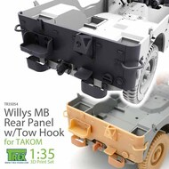 Rear Panel with Tow Hook for Willys MB (TAK kit)* #TRXTR35054