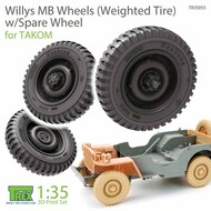 Wheels (weighted) Set with Spare for Willys MB (TAK kit)* #TRXTR35055
