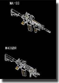Trumpeter Models  1/35 AR15/M16/M4 Family CQB Machine Gun TSM510