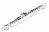Trumpeter Models  1/144 1/144 German DKM Type VIIC U-Boat (New Variant) (DEC) - Pre-Order Item TSM5912