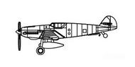 Trumpeter Models  1/350 Bf.109T Aircraft Set TSM6279