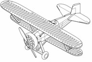 Trumpeter Models  1/350 F-4B BiPlane Fighter Set for Carriers (12/Bx) (New Tool) (APR) - Pre-Order Item TSM6283