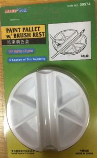 Paint Palette 6 Wells w/Brush Rest (2) #TSM9974