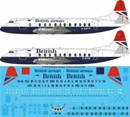 Vickers Viscount 800 BRITISH AIRWAYS G-AOYR etc. Two styles of #STS44128