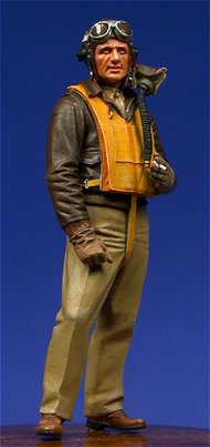 Ultracast  54mm WW2 USAAF Fighter Pilot, European Theater UC54013