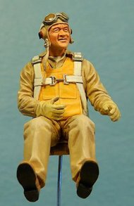Ultracast  54mm WW2 USMC Seated Fighter Pilot: Gregory 'Pappy UC54015