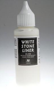 Vallejo Paints  No Scale 35ml Bottle White Stone Liner Texture Effect VLJ26234