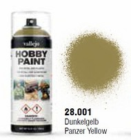 Vallejo Paints  No Scale Panzer Yellow WWII AFV Solvent-Based Acrylic Paint 400ml Spray VLJ28001