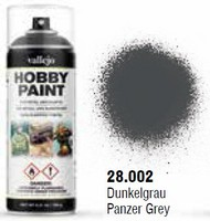 Vallejo Paints  No Scale Panzer Grey WWII AFV Solvent-Based Acrylic Paint 400ml Spray VLJ28002
