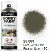 Vallejo Paints  No Scale Russian Green 4BO WWII AFV Solvent-Based Acrylic Paint 400ml Spray VLJ28003