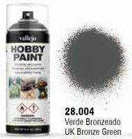 Vallejo Paints  No Scale UK Bronze Green WWII AFV Solvent-Based Acrylic Paint 400ml Spray VLJ28004