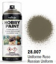 Vallejo Paints  No Scale Russian Uniform WWII Infantry Solvent-Based Acrylic Paint 400ml Spray VLJ28007