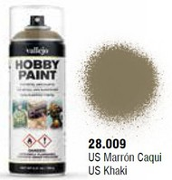 Vallejo Paints  No Scale US Khaki WWII Infantry Solvent-Based Acrylic Paint 400ml Spray VLJ28009