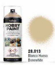 Vallejo Paints  No Scale Bonewhite Fantasy Solvent-Based Acrylic Paint 400ml Spray VLJ28013