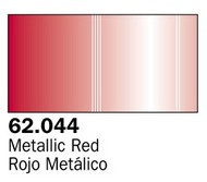 Vallejo Paints  AcrylicMetallic 60ml Bottle Metallic Red Premium VLJ62044