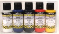 Vallejo Paints  AcrylicMetallic 60ml Bottle Metallic Premium Paint Set (5 Colors) VLJ62103