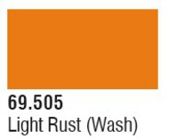 Vallejo Paints  Washes 17ml Bottle Light Rust Wash Mecha Color VLJ69505