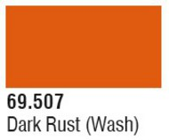 Vallejo Paints  Washes 17ml Bottle Dark Rust Wash Mecha Color VLJ69507