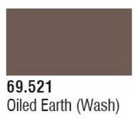 Vallejo Paints  Washes 17ml Bottle Oiled Earth Wash Mecha Color VLJ69521