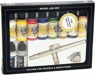 Vallejo Paints  Vallejo Model Air Model Air Set - Steenbeck Ultra Airbrush + 10 Basic Colors VLJ71167