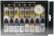 17ml Bottle Weathering Model Air Paint Set (16 Colors) #VLJ71194