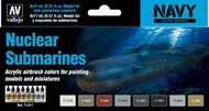 17ml Bottle Nuclear Submarines Navy Colors Model Air Paint Set (8 Colors) #VLJ71611