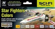 17ml Bottle Star Fighter Sci-Fi Colors Model Air Paint Set (8 Colors) #VLJ71612