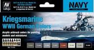 17ml Bottle Kriegsmarine WWII German Navy Colors Model Air Paint Set (8 Colors) #VLJ71615