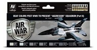 17ml Bottle USAF Colors Post WWII to Present Aggressor Squadron Part 2 Model Air Paint Set (8 Colors) #VLJ71617