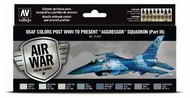 17ml Bottle USAF Colors Post WWII to Present Aggressor Squadron Part 3 Model Air Paint Set (8 Colors) #VLJ71618