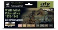 17ml Bottle WWII British Colors Africa 1939-1943 Model Air Paint Set (8 Colors) #VLJ71622