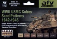 17ml Bottle WWII USMC Sand Patterns 1942-1945 Model Air AFV Paint Set (6Colors) #VLJ71624