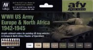 17ml Bottle WWII US Army Europe & North Africa 1942-1945 Model Air AFV Paint Set (8Colors) - Pre-Order Item #VLJ71625