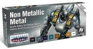 Vallejo Paints  GameColor 17ml Bottle Non Metallic Metal Game Color Paint Set (8 Colors) VLJ72212