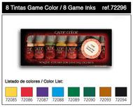 Vallejo Paints  GameColor 17ml Bottle Inks Game Color Paint Set (8 Colors) VLJ72296