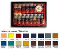 Vallejo Paints  GameColor 17ml Bottle Advanced Game Color Paint Set (16 Colors) VLJ72298