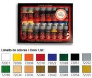 Vallejo Paints  GameColor 17ml Bottle Introduction Game Color Paint Set (16 Colors) VLJ72299