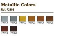 Vallejo Paints  GameColor 17ml Bottle Metallic Game Color Paint Set (8 Colors) VLJ72303