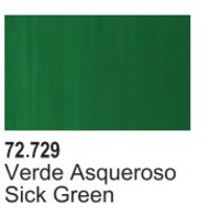 Vallejo Paints  Vallejo Game Color 17ml Bottle Sick Green Game Air VLJ72729