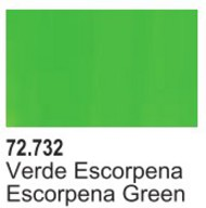 Vallejo Paints  Vallejo Game Color 17ml Bottle Escorpena Green Game Air VLJ72732