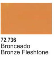 Vallejo Paints  Vallejo Game Color 17ml Bottle Bronze Fleshtone Game Air VLJ72736