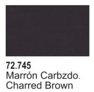 Vallejo Paints  Vallejo Game Color 17ml Bottle Charred Brown Game Air VLJ72745