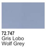 Vallejo Paints  Vallejo Game Color 17ml Bottle Wolf Grey Game Air VLJ72747