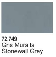 Vallejo Paints  Vallejo Game Color 17ml Bottle Stonewall Grey Game Air VLJ72749