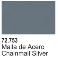 Vallejo Paints  Vallejo Game Color 17ml Bottle Chainmail Silver Game Air VLJ72753