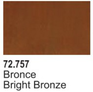 Vallejo Paints  Vallejo Game Color 17ml Bottle Bright Bronze Game Air VLJ72757